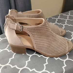 Justice Girls Ankle Boots Open Toe Size 9
